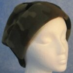 Long Hat in Olive, Brown Camo