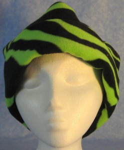 Long Hat in Green Zebra - rolled