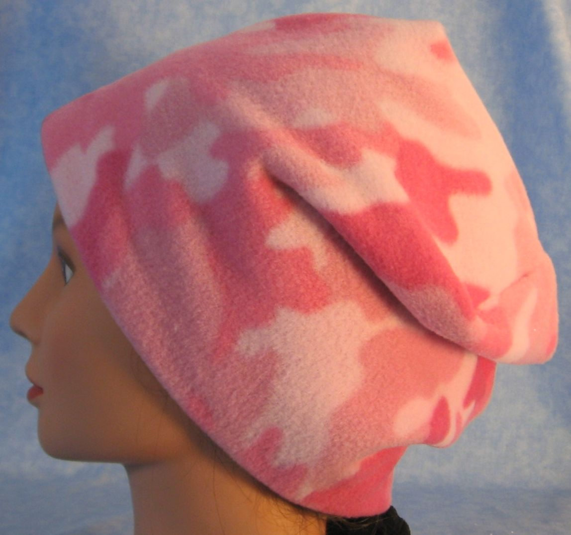 Long Hat in Pink and Pink Camo-Adult L