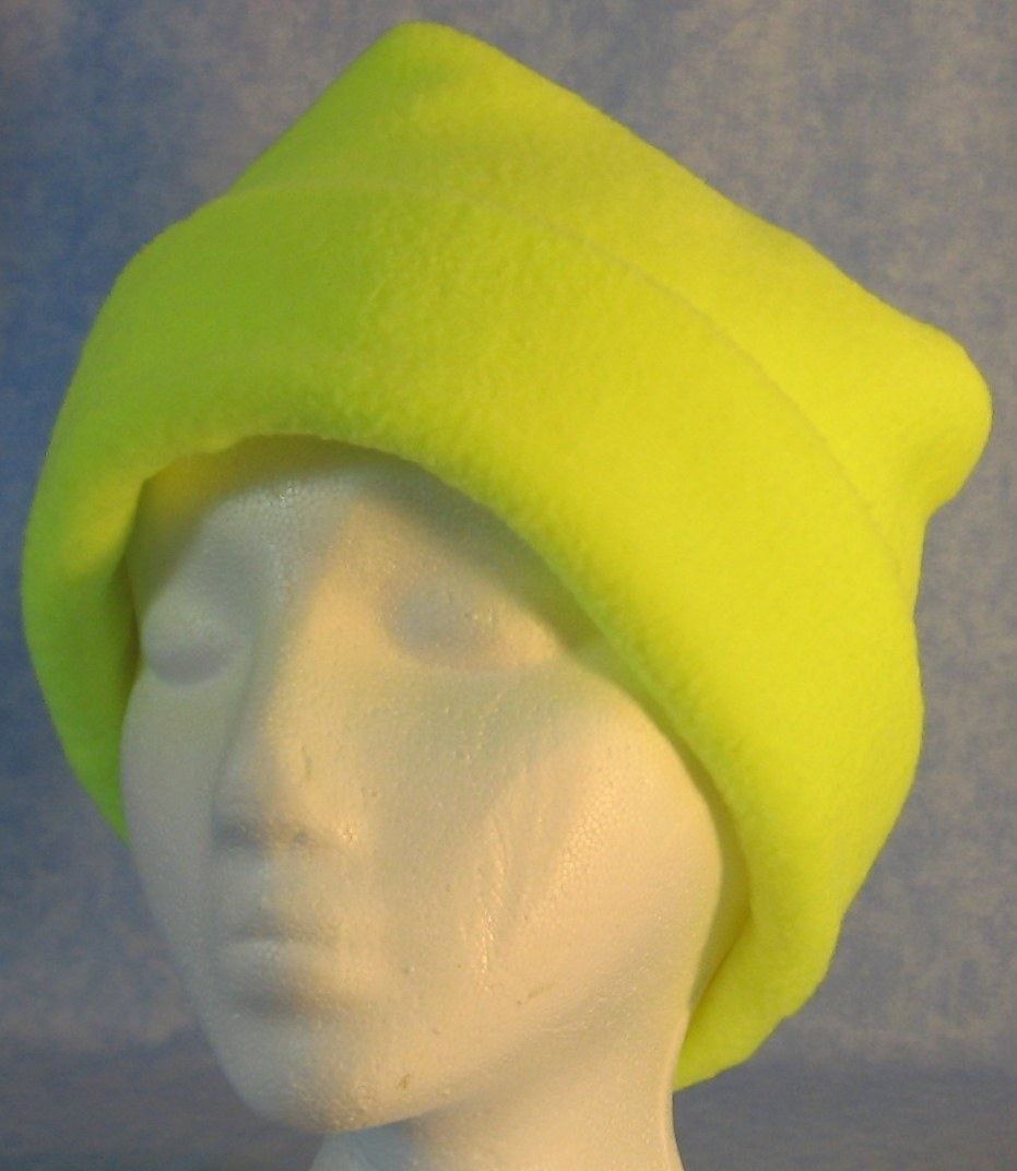 Long Hat in Fluorescent Yellow-Adult 2XL