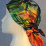 Head wrap worn as a wrap - side view