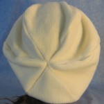Newsboy Hat in White - back
