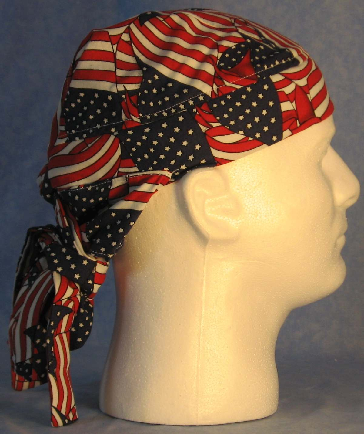 Hair Bag Do Rag in Flags Overall - Youth L-XL-Adult S