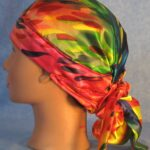Hair Stocking in Rainbow Drops - left