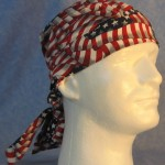 Hair Bag in Overall Big Flags - front