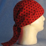 Do Rag in Red with Black Polka Dots