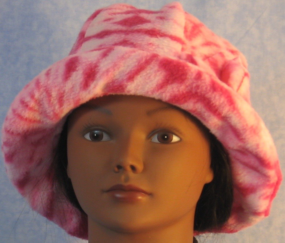 Cloche Hat in Pink Tie Dye-Adult S