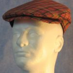 Flat Cap in Red Gold Plaid - front male