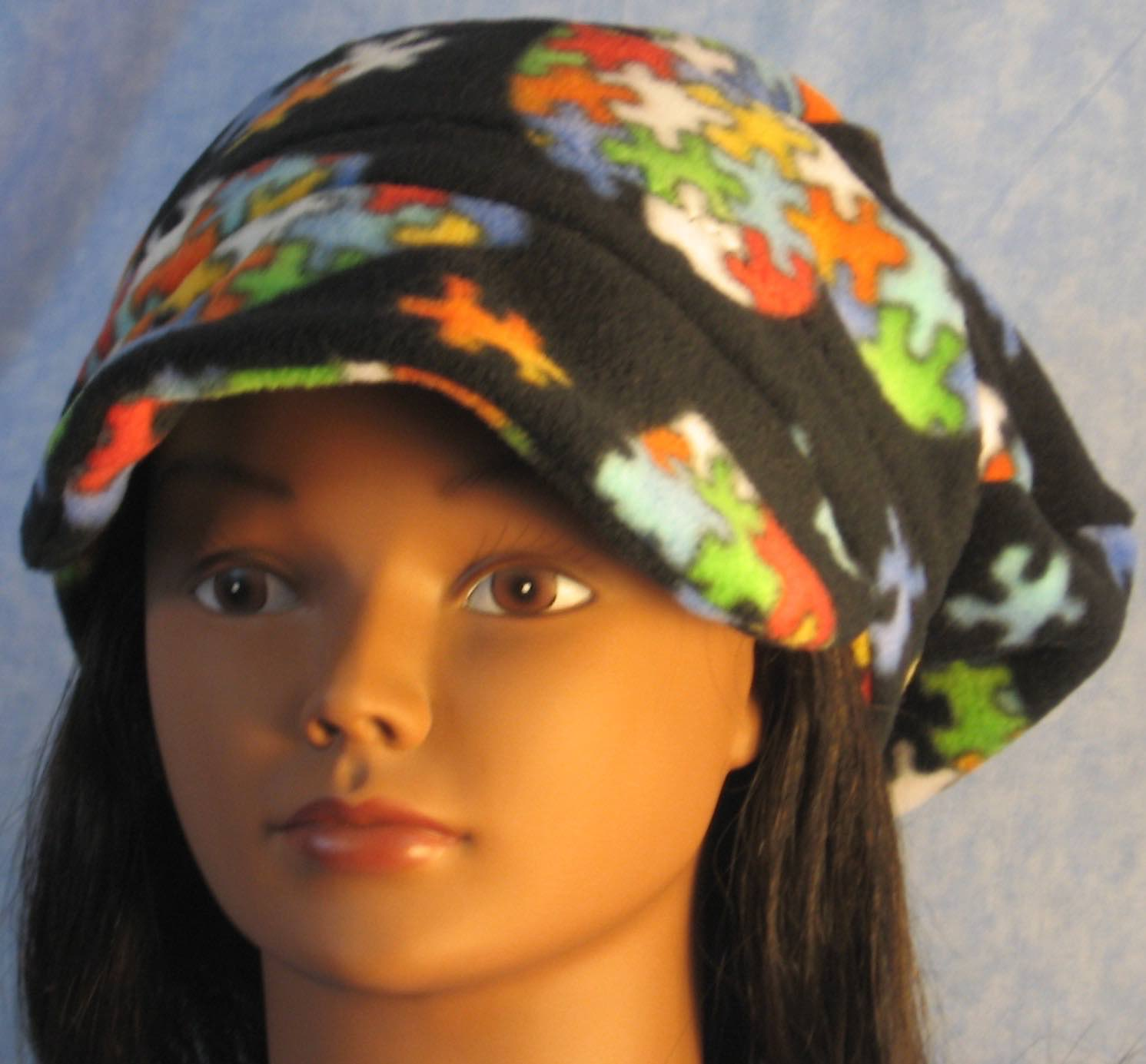 Newsboy Hat in Autism Awareness-Adult M