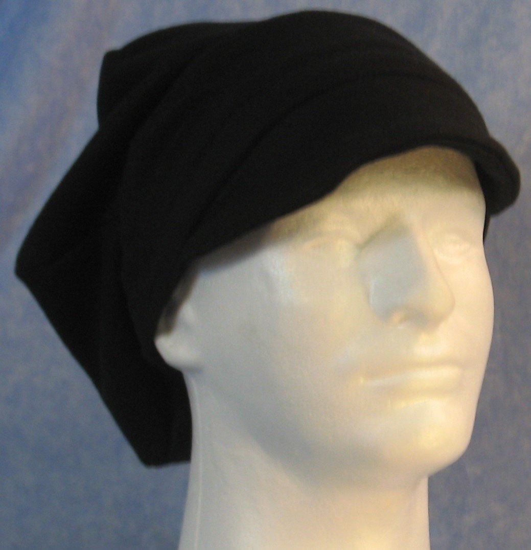 Newsboy Hat in Black-Adult M