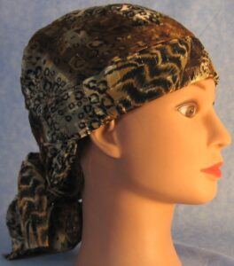 Hair Stocking in Brown Animal Print
