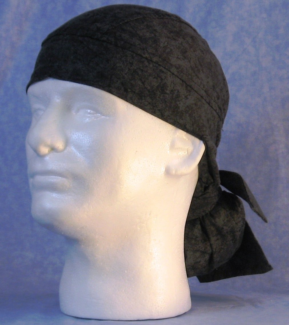 Hair Bag Do Rag in Black Marble - Adult 3XL-5XL