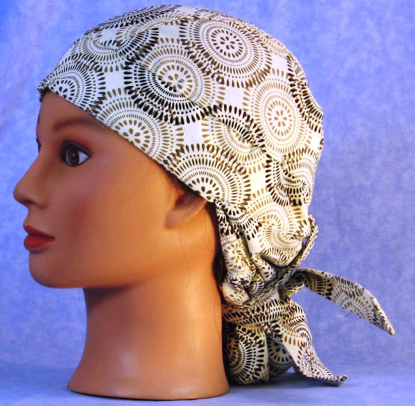 Hair Bag Do Rag in Brown Gray Graphite - Youth L-XL-Adult S