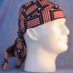 Hair Bag in Square Flags - right