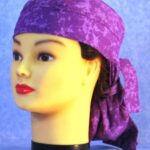 Hair Bag in Purple Purple Splotch - left front