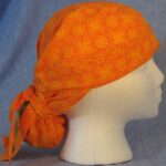Hair Stocking in Orange Yellow Sun with Acorn Tail