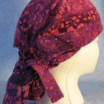 Hair Stocking in Pink Purple Batik