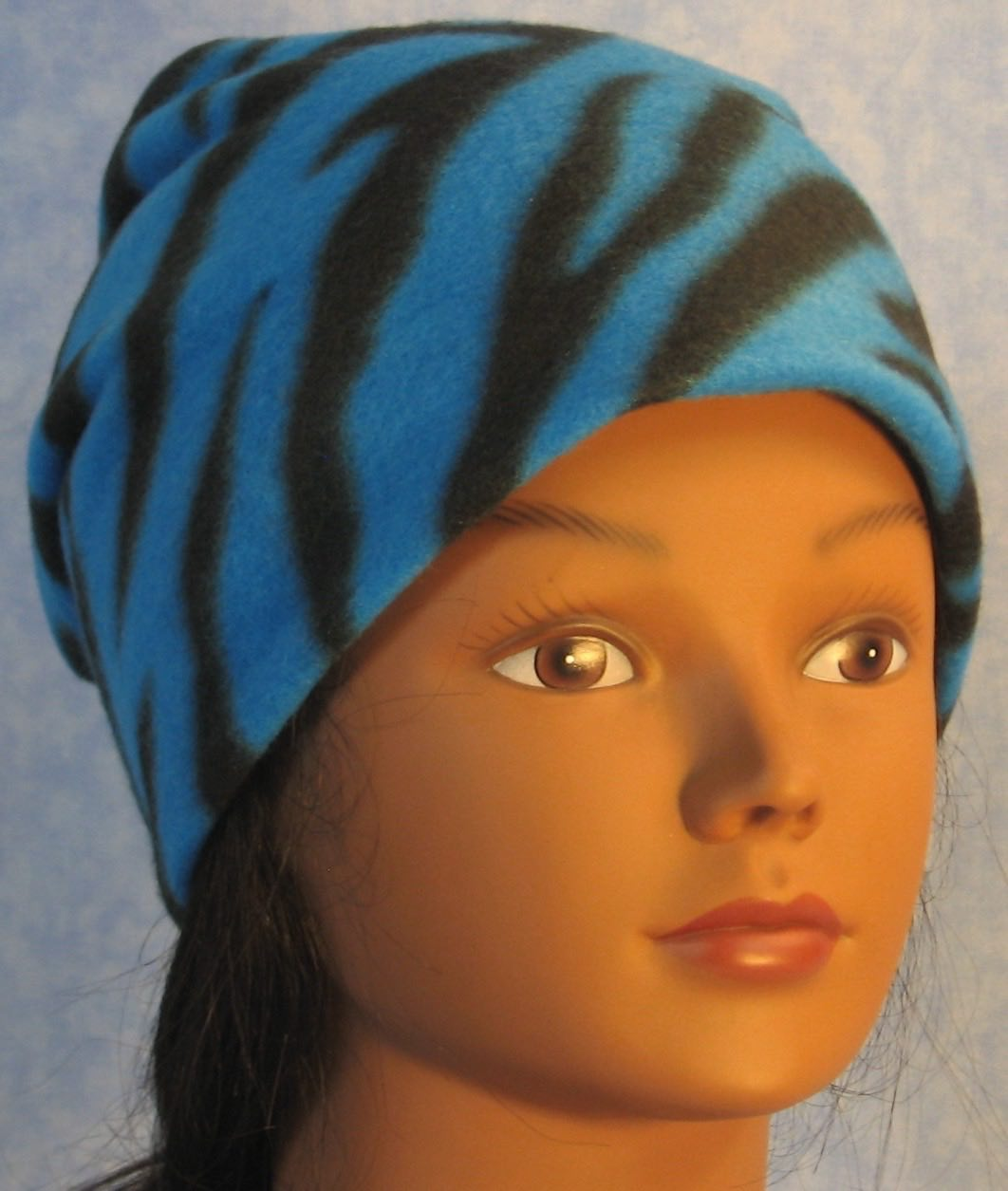 Long Hat in Blue Zebra-Youth L-XL