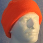 Long Hat in Fluorescent Orange - rolled