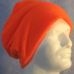 Long Hat in Fluorescent Orange - unrolled