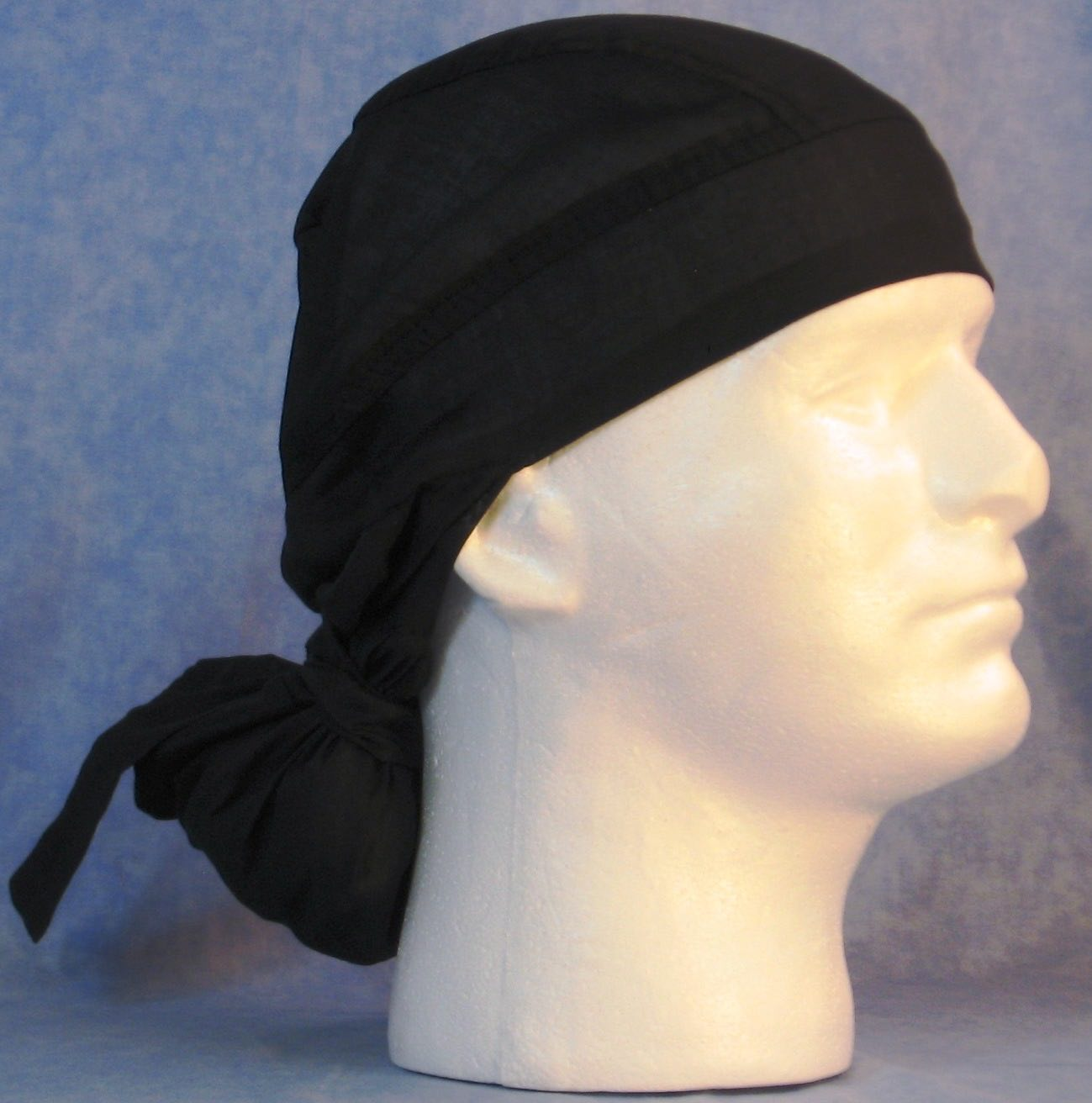 Hair Bag Do Rag in Black - Adult 1XL-3XL