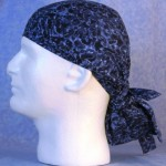 Hair Bag in Blue Navy Lightening - left