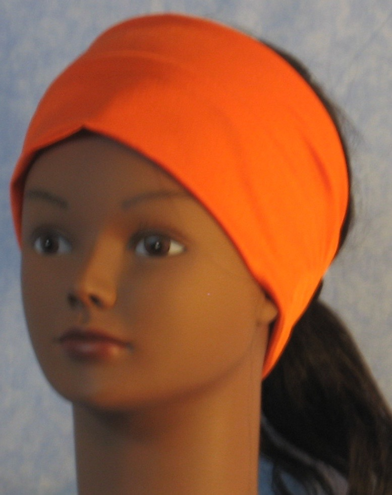 Headband-Orange Swim Knit-Adult S