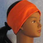 Headband in Orange Swim Knit - right