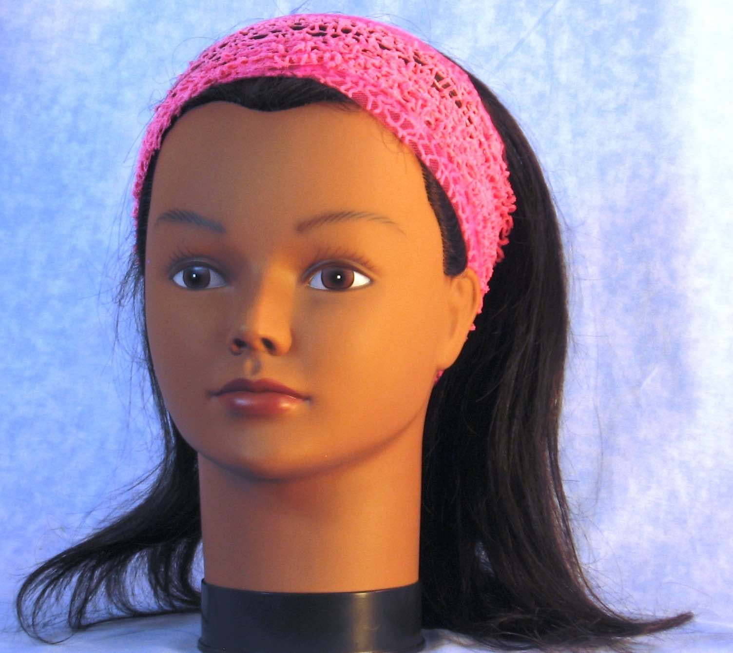Headband-Pink Mesh Net-Adult M