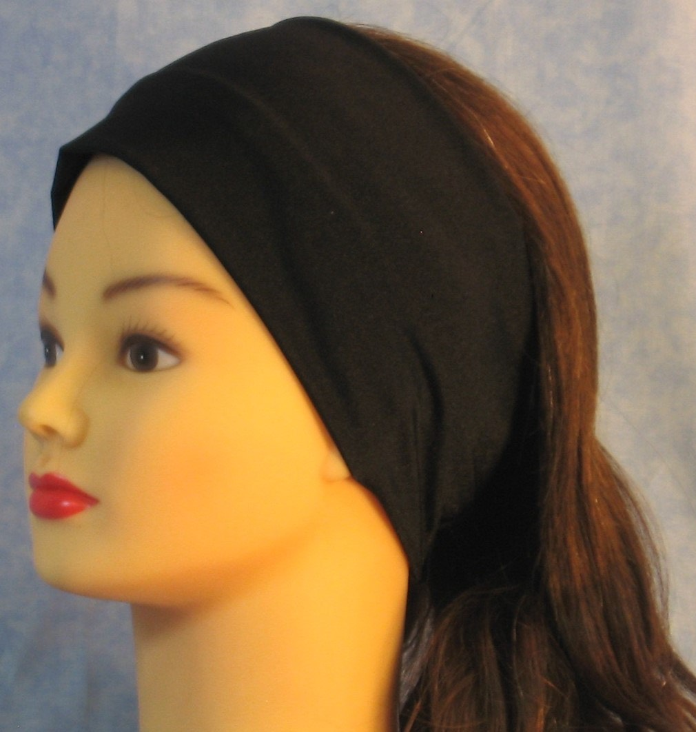 Headband-Black Swim Knit-Youth S-M