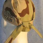 Bennie W Desert Camo Tail-less Do Rag Replacement - back