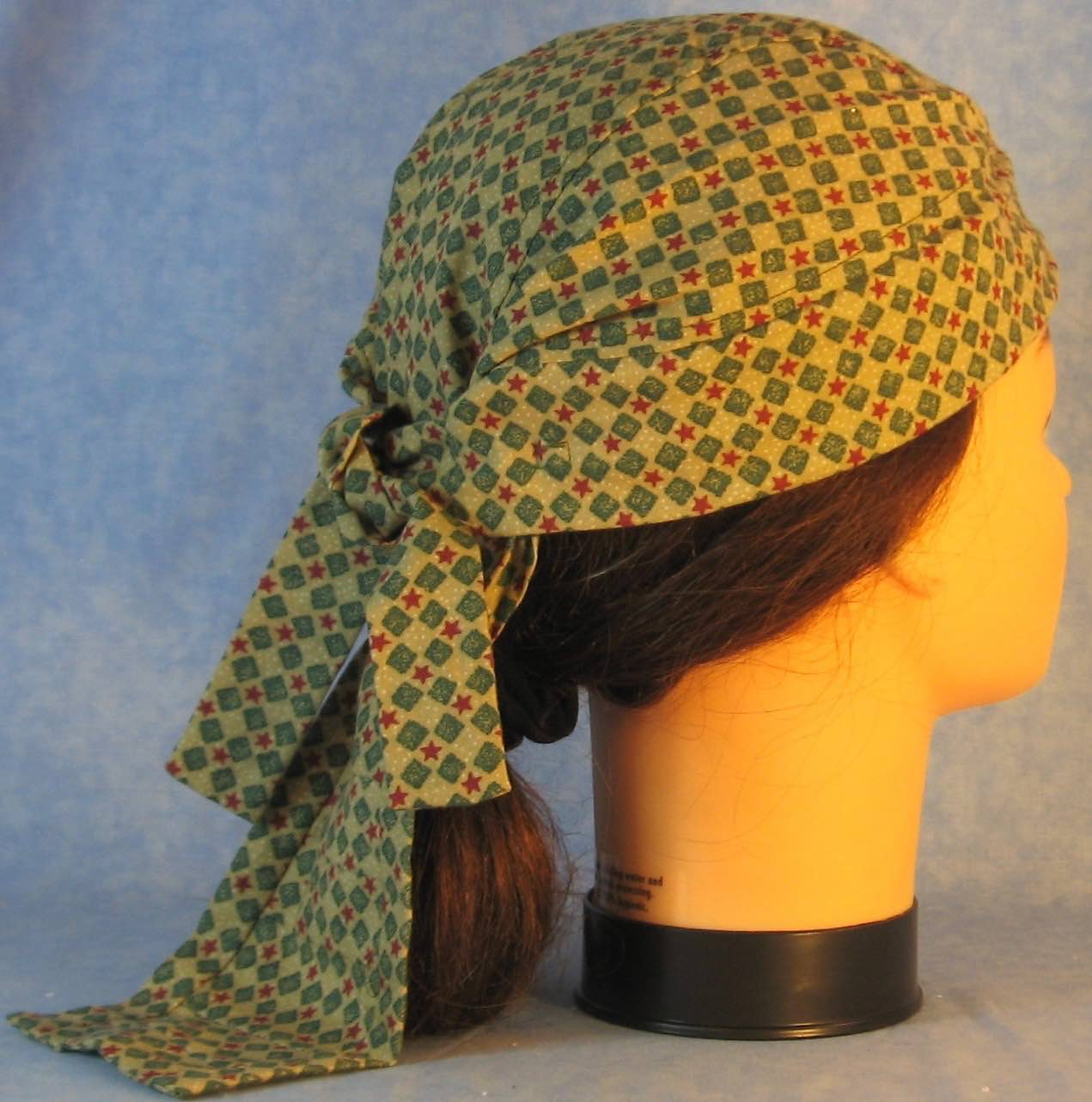 Do Rag in Red Star Green Block-Adult M-XL