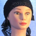 Head Wrap in Black Mesh Net - front