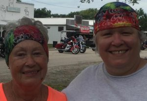 Mom Headband and Daughter Skull Cap in Cassoday