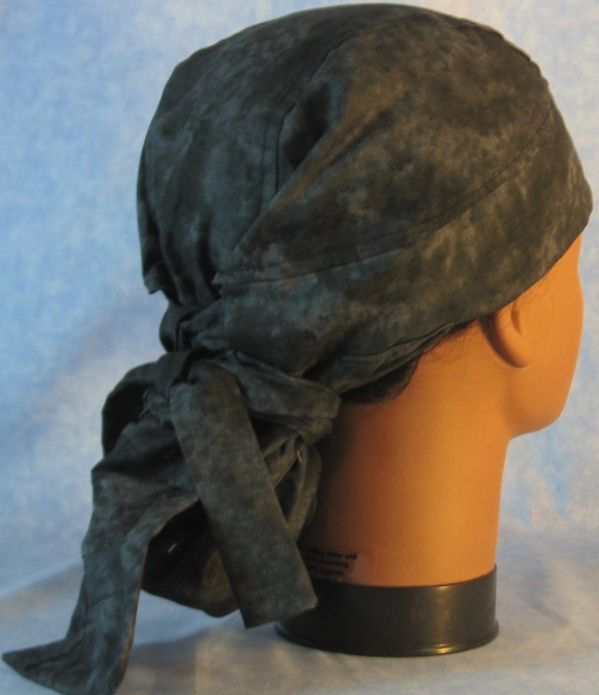 Hair Bag Do Rag in Black Smoky - Youth L-XL-Adult S
