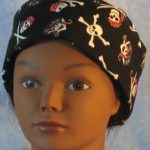 Skull Cap in Black Pirate Skulls - front