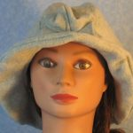Cloche Hat in Light Gray - front