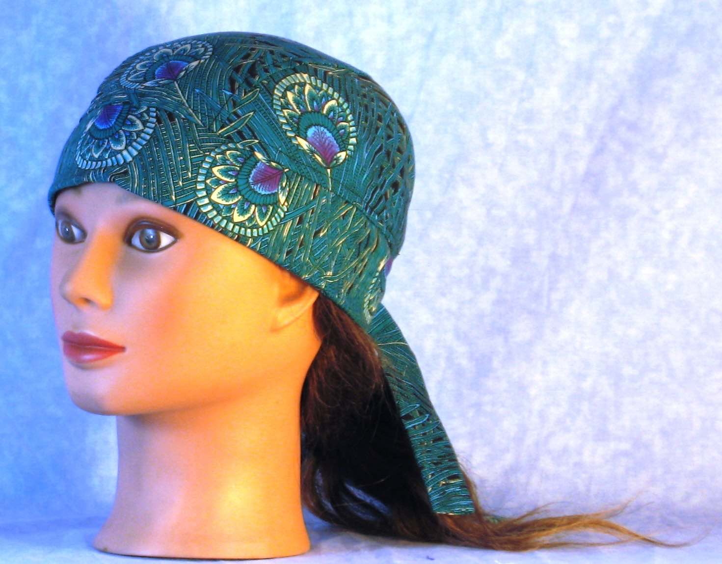 Do Rag in Emerald Peacock Plumes Grass-Adult M-XL