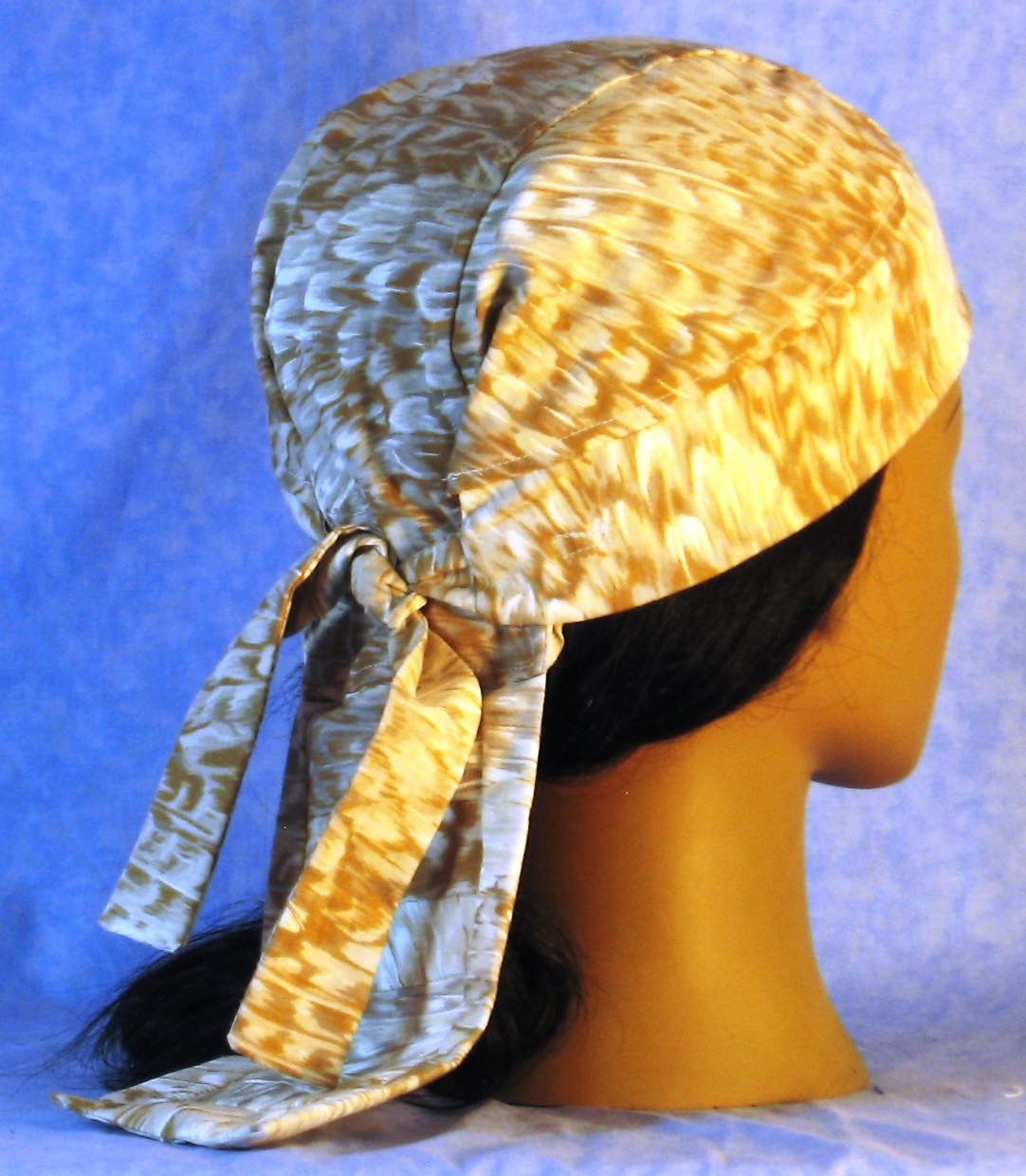 Do Rag in White Gold Feathers-Adult M-XL