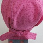 Do Rag in Pink with Rose Flowers with Flowers on Jeans Fancy Tail