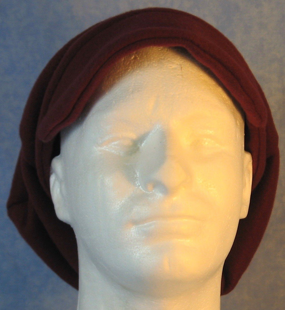 Newsboy Hat in Burgundy-Adult M