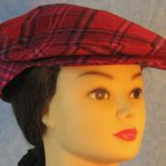 Flat Cap in Pink Lavender Plaid Flannel - front right