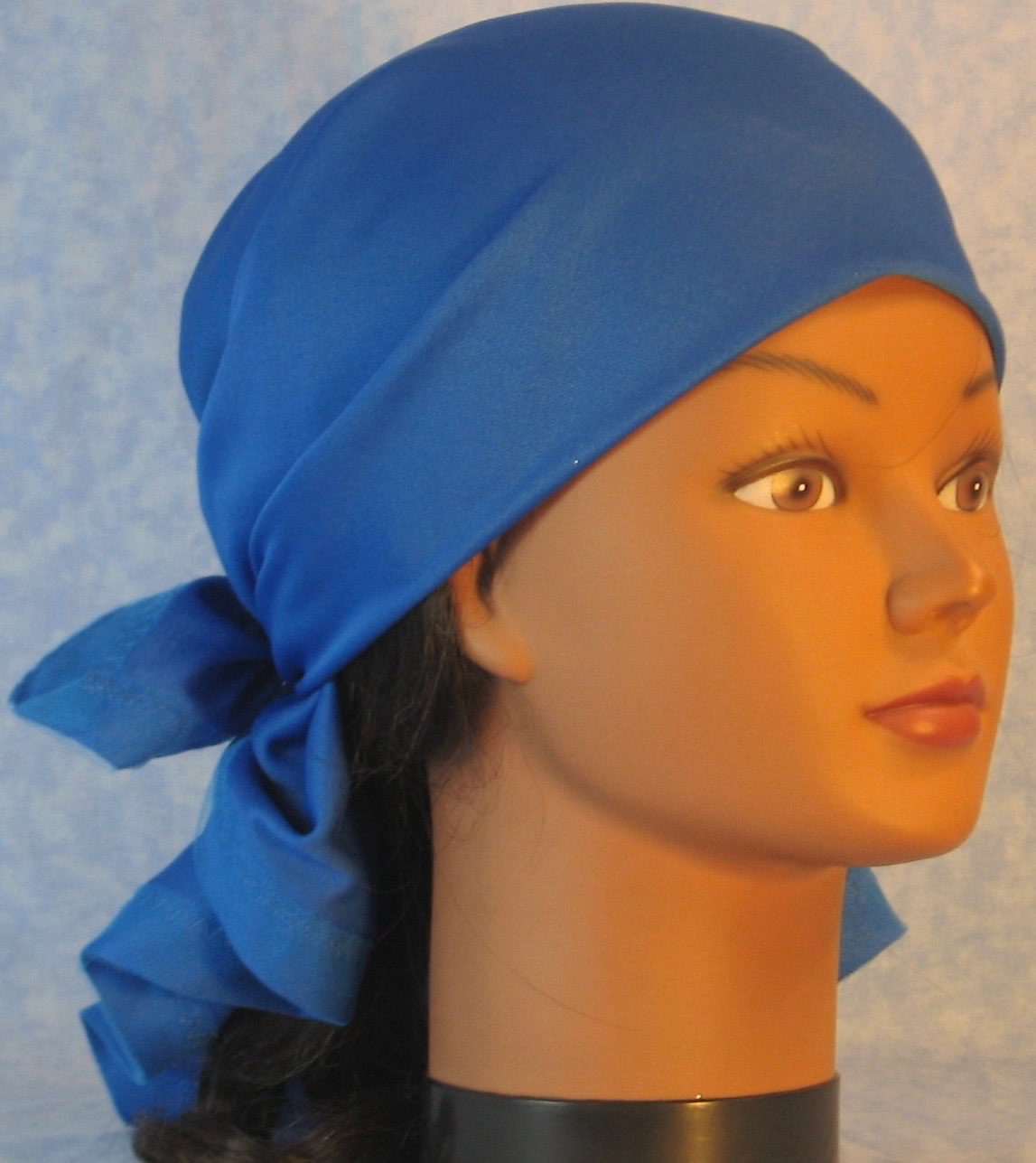 Head Wrap in Blue Knit
