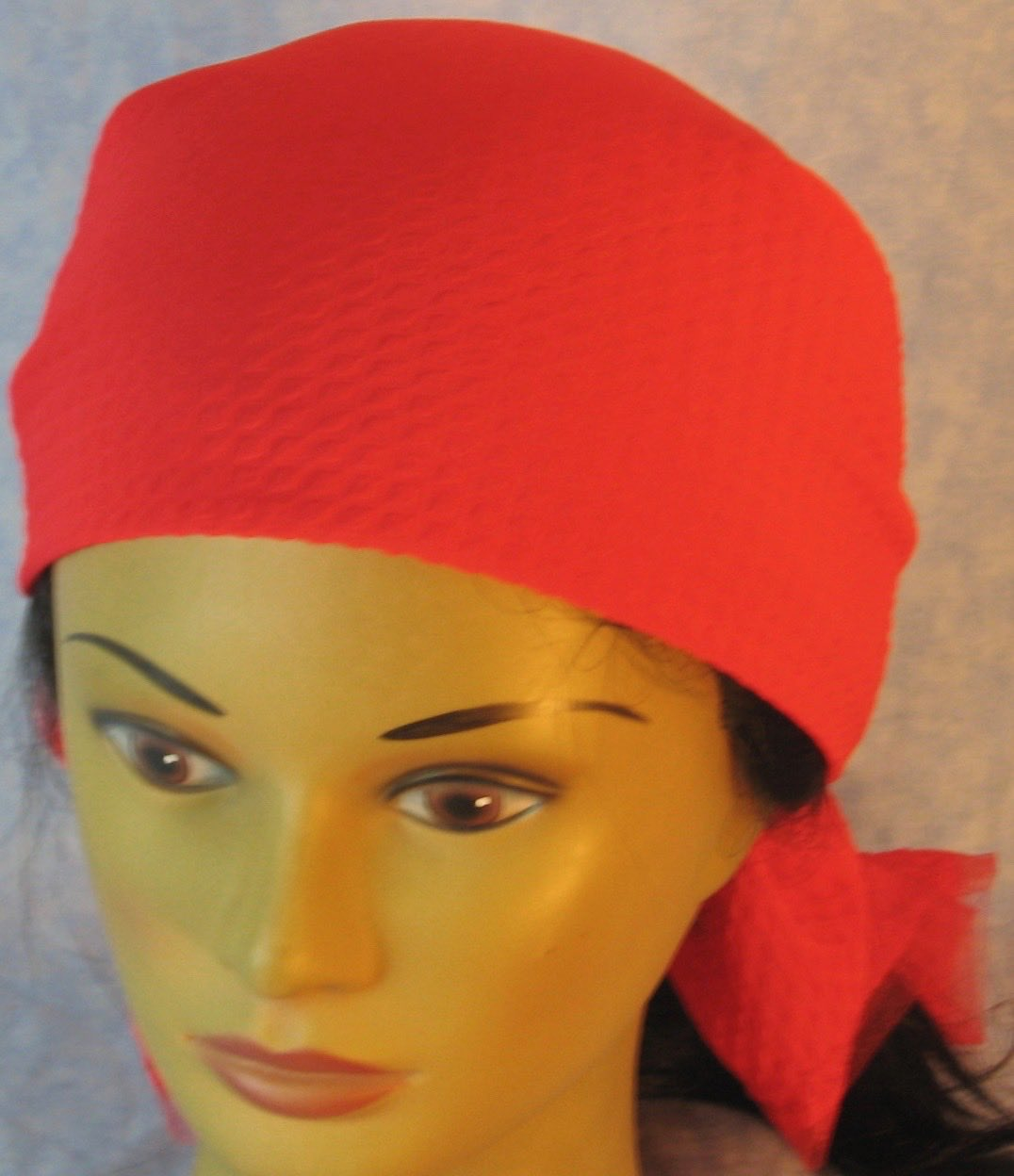 Head Wrap in Red Diamond Weave