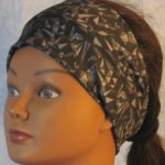 Headband - Gray Black Geometric Triangle Circle - front left