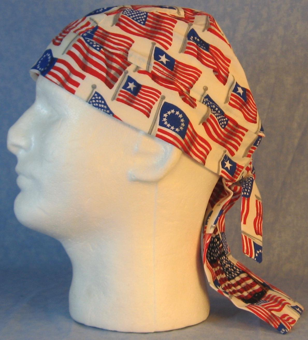 Do Rag in Historic American Flags with Flags Stars Tail-Adult M-XL