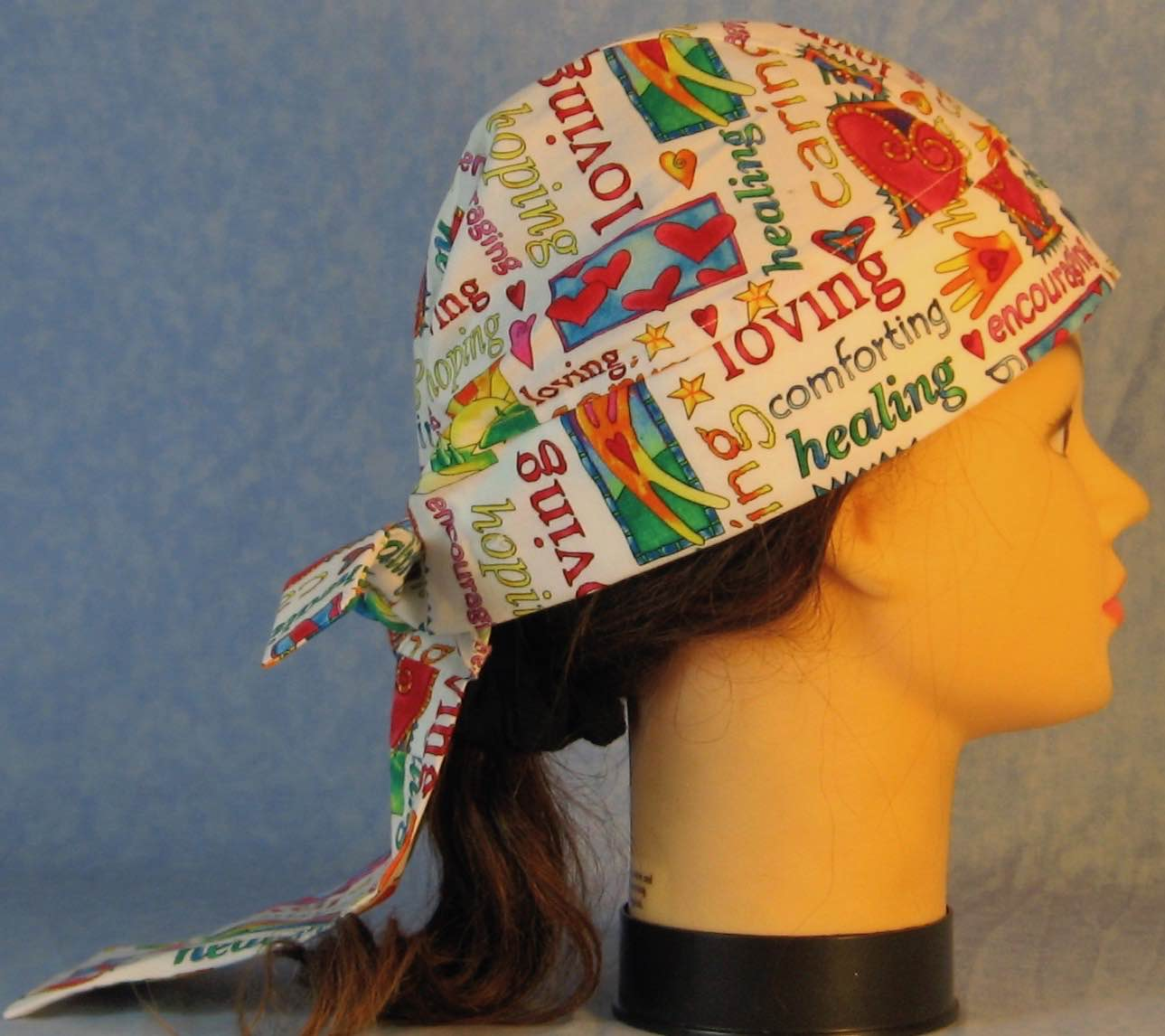 Do Rag in Loving Healing Multi-color on White-Adult M-XL