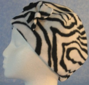 Cap Flower - Zebra - side