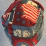 Long Hat in Patriotic Stars - back