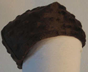 Beanie Cap in Brown Dimples-Baby Newborn
